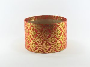 FLOWER BOX  20/13  - dekor dekor METAL ORNAMENT GOLD/RED
