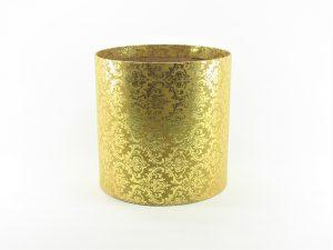 FLOWER BOX  20/20  - dekor METAL ORNAMENT GOLD/GOLD