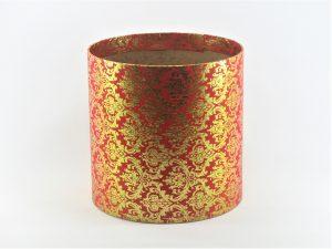 FLOWER BOX  20/20  - dekor METAL ORNAMENT GOLD/RED