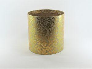 FLOWER BOX  20/20  - dekor METAL ORNAMENT GOLD/CREAM