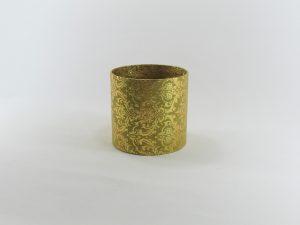 FLOWER BOX MINI 10/10 D - dekor METAL ORNAMENT GOLD/GOLD