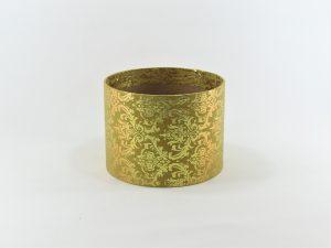 FLOWER BOX MINI 13/10 D - dekor METAL ORNAMENT GOLD/GOLD