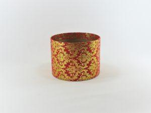 FLOWER BOX MINI 13/10 D - dekor dekor METAL ORNAMENT GOLD/RED
