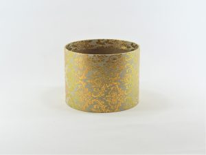 FLOWER BOX MINI 13/10 D - dekor METAL ORNAMENT GOLD/CREAM