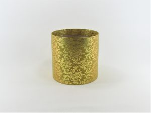 FLOWER BOX MINI 13/13 D - dekor METAL ORNAMENT GOLD/GOLD